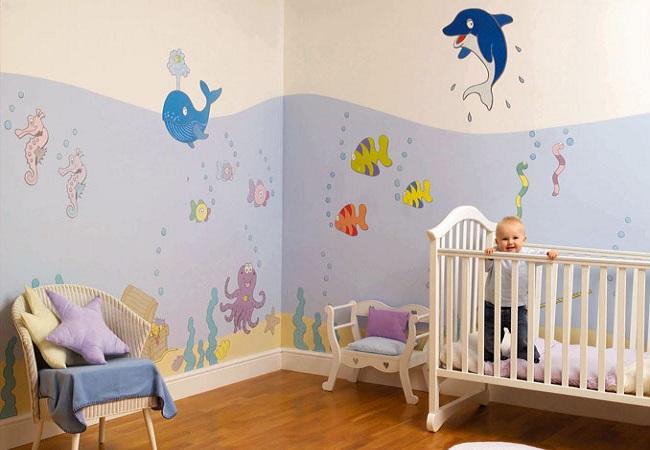 Создать неповторимый дизайн детской можно с помощью ярких обоев