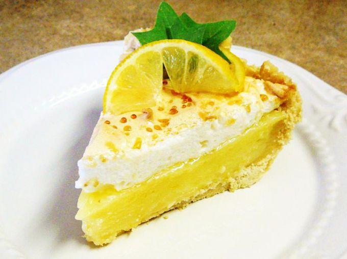 Как приготовить лимонный торт с меренгой