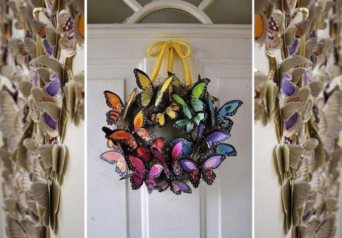 Венок из бабочек своими руками