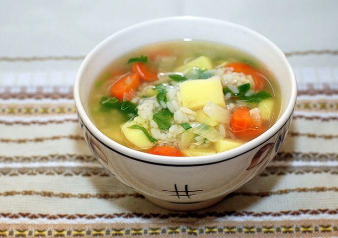 Французский овощной суп с рисом