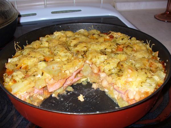 Что приготовить из картошки лука и сосисок в