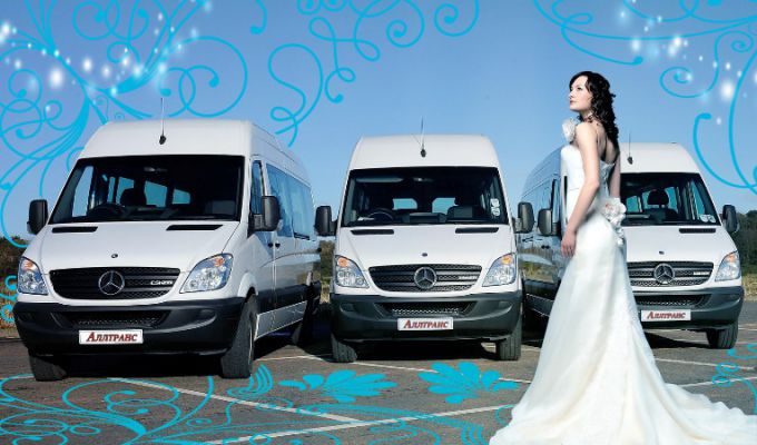 Аренда микроавтобуса в СПб на свадьбу