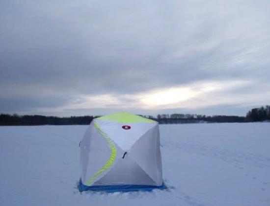 Как просто и правильно установить зимнюю палатку для рыбалки