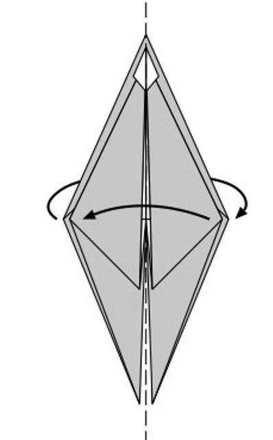 Как сделать птичку оригами фото 91