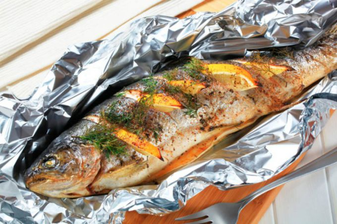 Fragrant and delicious fish ready.