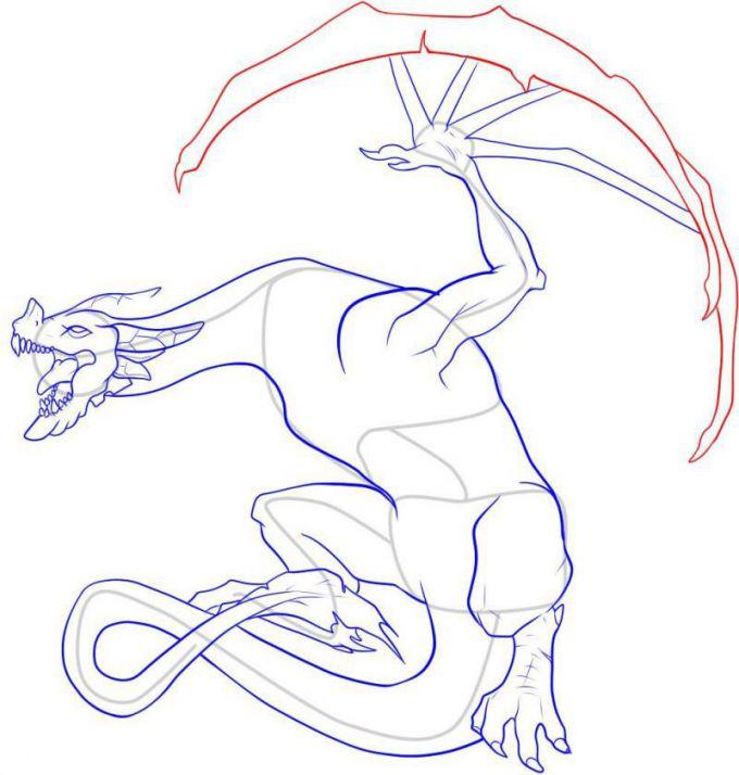Драконы для срисовки карандашом