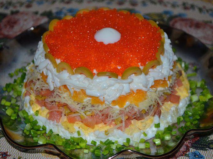 Рецепты салатов с рыбой на новый год 2017 рецепты