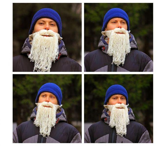 Веревочная борода смотрится очень забавно