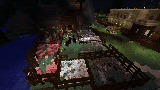 домашний зоопарк игрока Minecraft