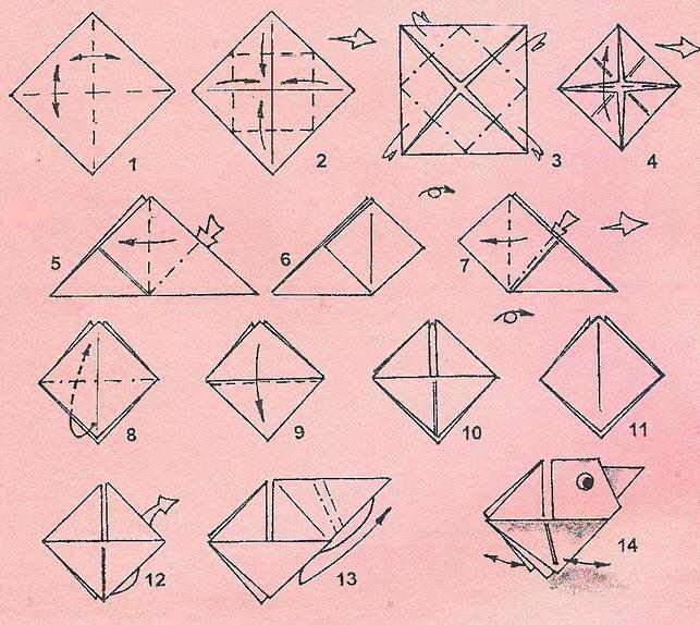Как сделать галчонка из бумаги