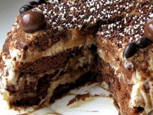 Торт из пряников без выпечки с фото