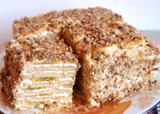 Как приготовить торт из печенья с заварным кремом