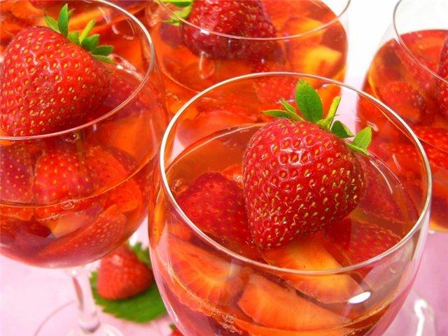 Готовим простой и оригинальный десерт с шампанским