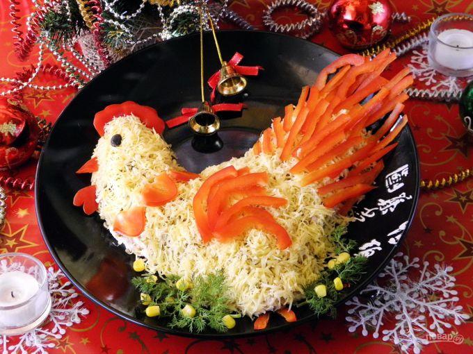 Рецепт салатов фото новый год