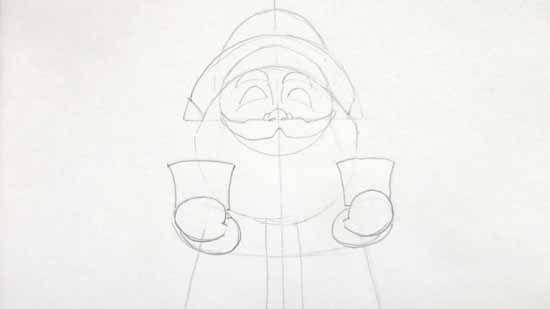 Как нарисовать Деда Мороза карандашом