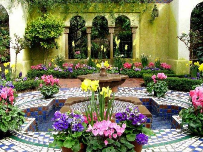 арабский стиль в ландшафтном дизайне