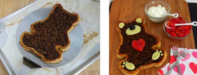Пирог «Плюшевый медвежонок Тедди»