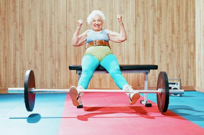 Morning exercises for the elderly