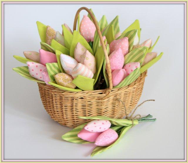 Текстильные тюльпаны своими руками