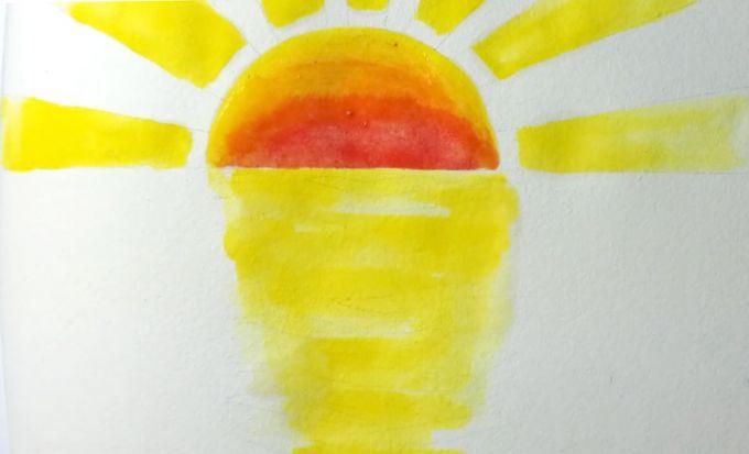 Как нарисовать закат