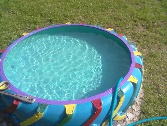 Как сделать бассейн для дачи из покрышки