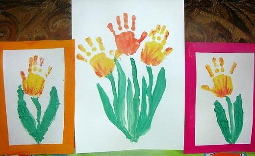 Открытка на 8 марта маме своими руками