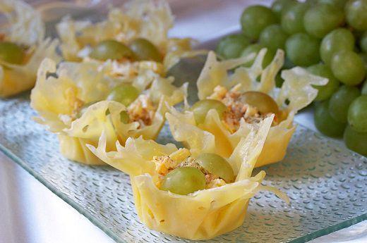 Рецепт сырных корзиночек