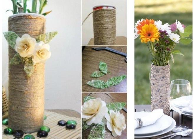 Два способа сделать вазу из картонки, оставшейся от чипсов