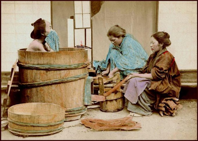 Japanese rice bath at home