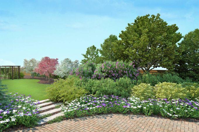Фактурная красочность в саду