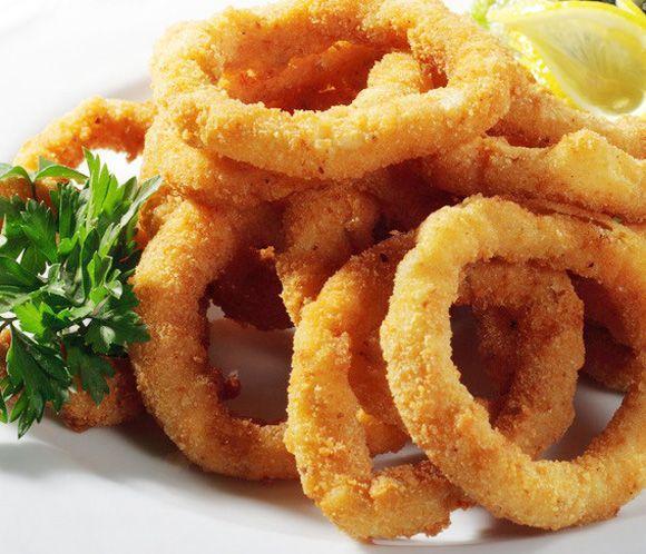 Азиатская кухня. Обжаренные кальмары