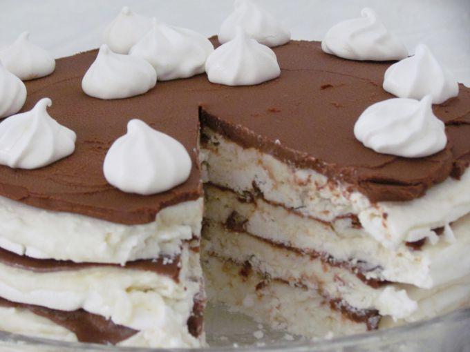 Кокосовый торт - безе с кофейным кремом и маскарпоне