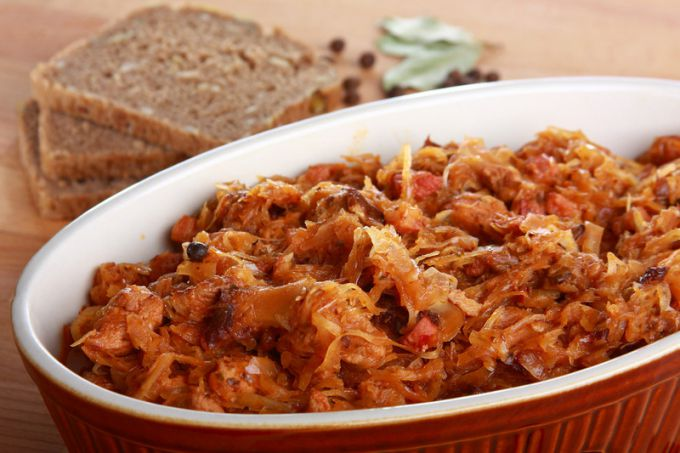 How to cook cabbage stewed in Belarusian