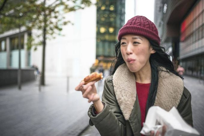 Why not eat while walking