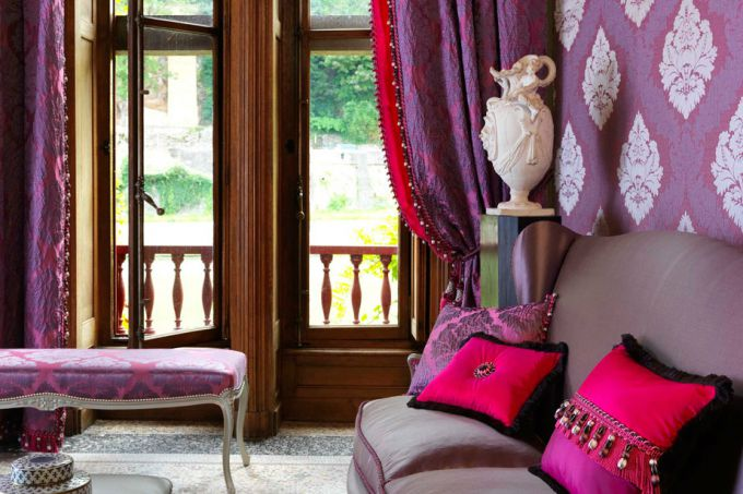 The use of luxury fabrics in the interior
