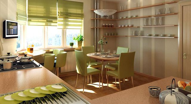 Варианты интерьера кухни сделанные
