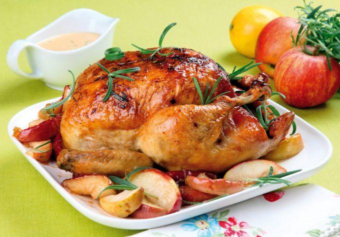 Запеченная курица с кус-кусом