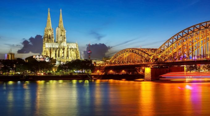 On holiday in Cologne