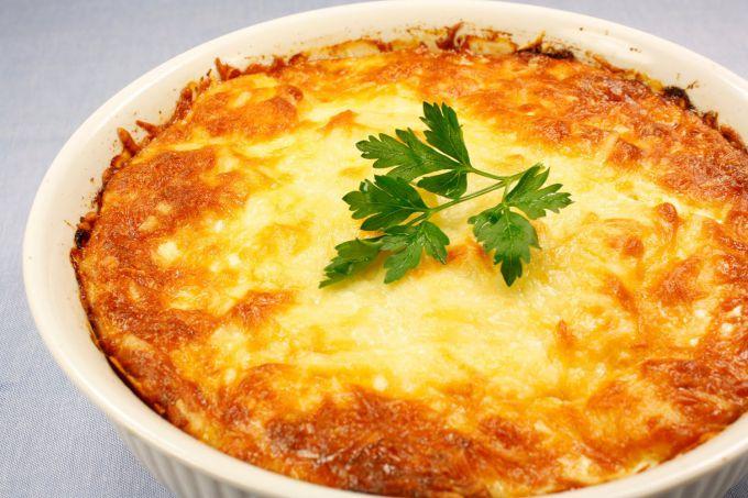 Potato gratin with beans
