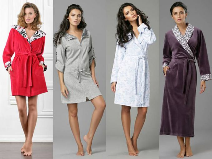 Fashionable women's robes in 2016