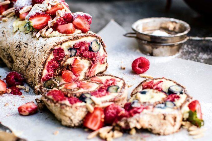 Простыеы с замороженными ягодами