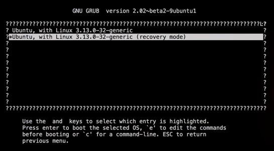 ubuntu recovery mode