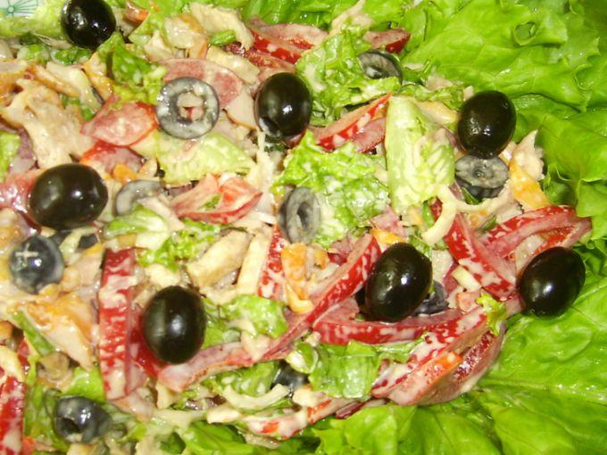 Салаты с маслинами рецептыс фото