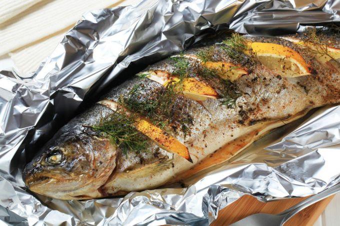Рыба скумбрия запеченная