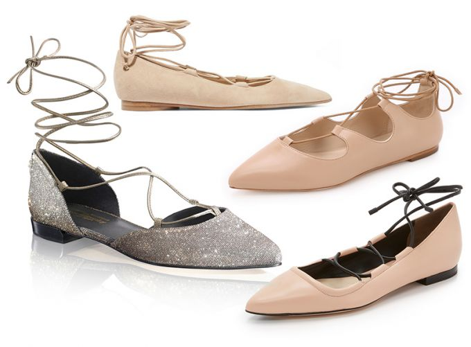 Wear correct ballet shoes lace-up