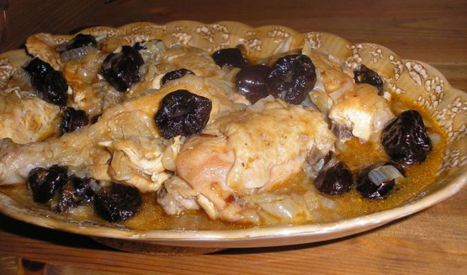 Chicken with plum sauce