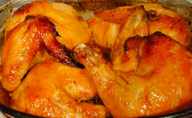Chicken with ginger and honey