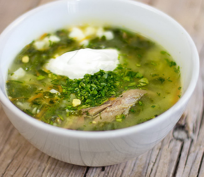 How to cook green borsch with beef