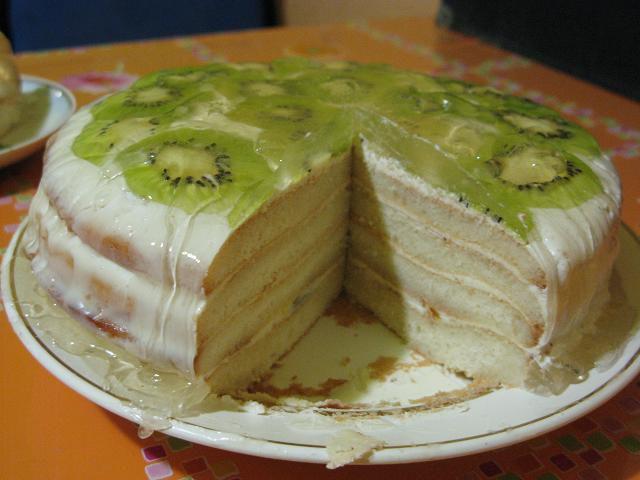 Бисквитный торт «Киви»