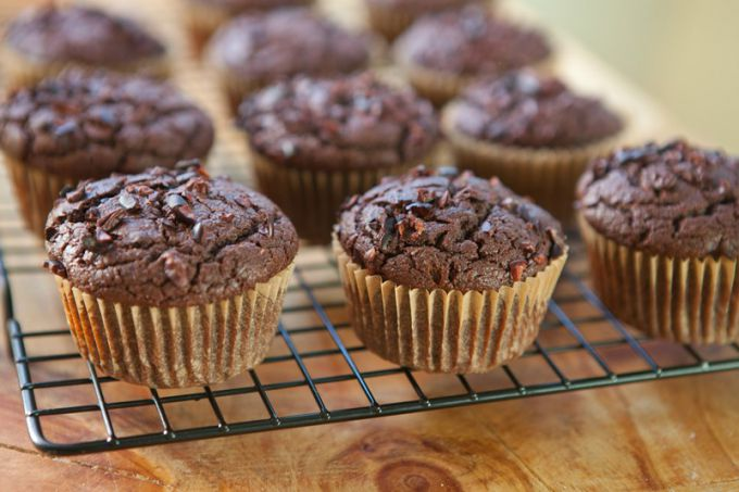 How to make chocolate muffins with walnuts